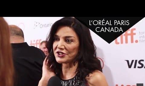 Shohreh Aghdashloo promotes cosmetics at TIFF 2015