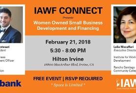 Leila Mozaffari at IAWF Connect: Women Owned Small Business Development & Financing