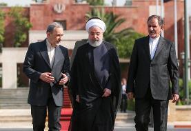 روحانی با بدرقه نماینده رهبری و طرح