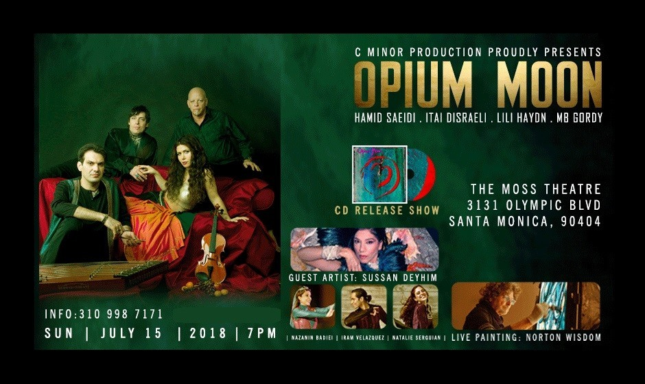 Opium Moon CD Release: Dance, Live Painting, Santoor, Violin and Songs by Sussan Deyhim