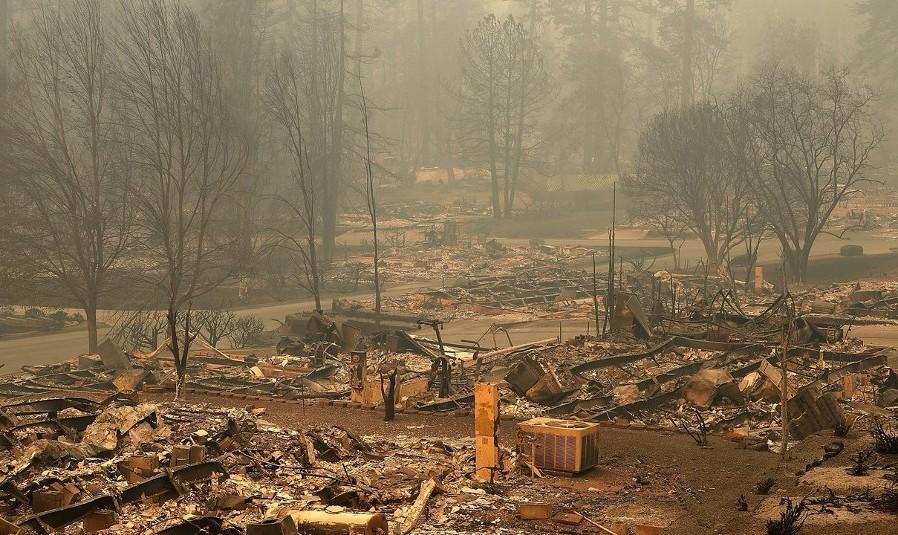 ویدئو آتشسوزی مهیب کالیفرنیا: شهر