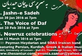Jashn-e sadeh concert: Persian, Kurdish and Greek music with Peyman Heydarian