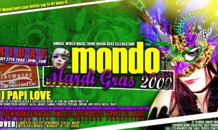 MONDO Mardi Gras 2009: Annual World Music Theme Mardi Gras Celebration!
