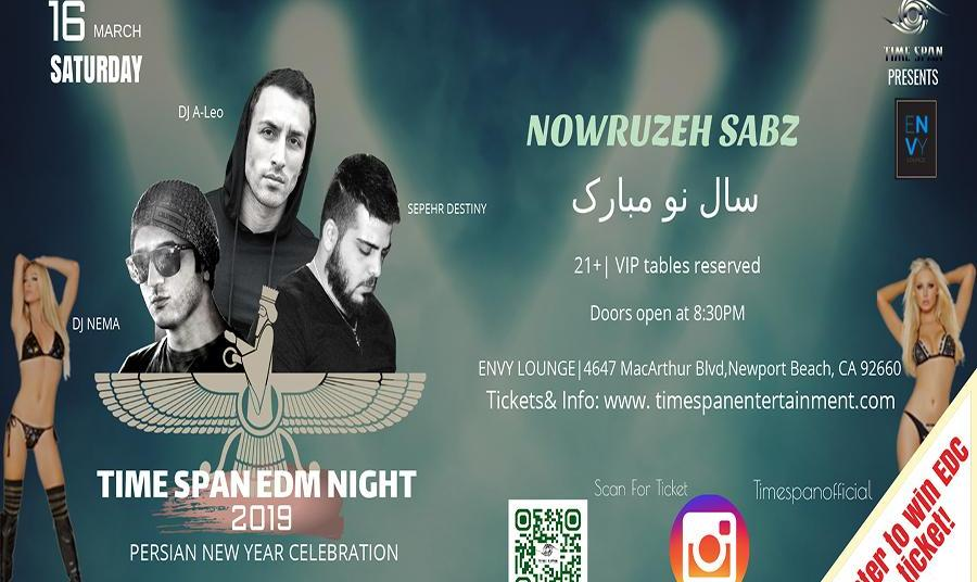 Time Span EDM Night and Persian New Year Celebration