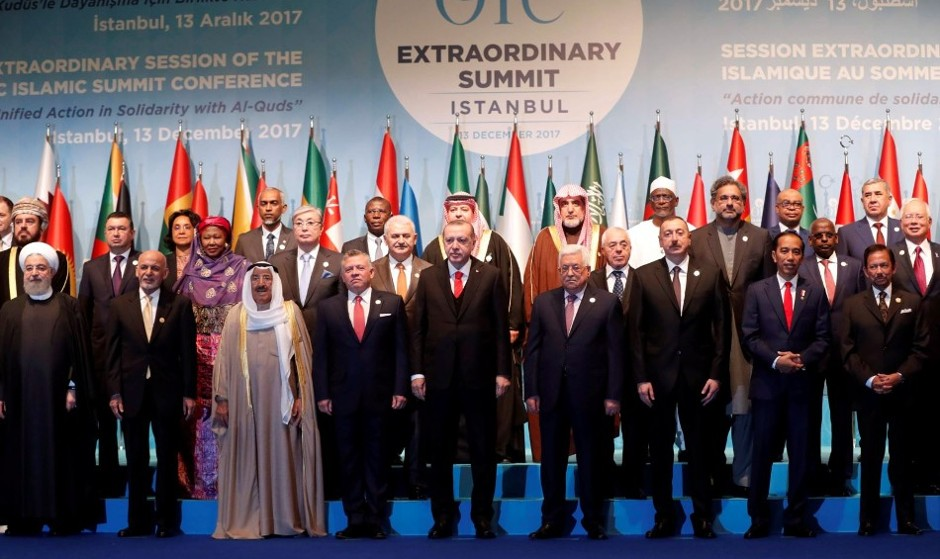 اتحاد بی سابقه سران کشورهای اسلامی در استانبول در مخالفت با ترامپ و نتانیاهو