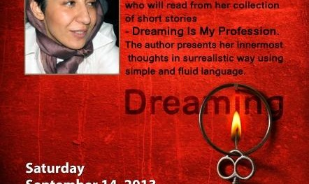 Author Talk Fatemeh Zarei: Collection of short stories in Farsi and English