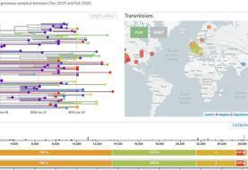 Chart: Evolution and Genomic Epidemiology of Novel Coronavirus with Time