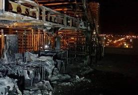 آتش سوزی گسترده در یک مجتمع تجاری در بلوار کوهک تهران + عکس