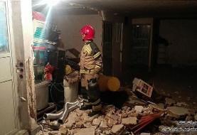انفجار شدید در تهران بر اثر نشت سیلندر گاز/ تصاویر