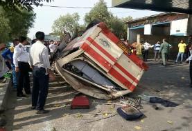 واژگونی سرویس دانش آموزان در خوزستان: ۱۶ نفر مصدوم شدند