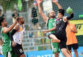 هندبال قهرمانی آسیا: پیروزی ایران مقابل عربستان