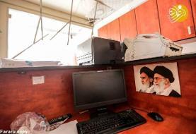 تصاویر خسارت مرکز اطلاع رسانی حزبالله پس از سقوط پهپاد اسرائیلی/ پهپاد اول که منفجر نشد در اختیار حزبالله است