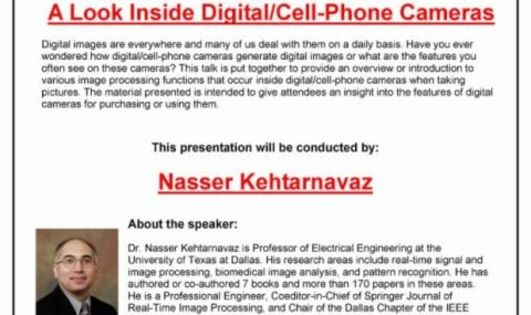 A Look Inside Digital/Cell - Phone Cameras By Dr. Nasser Kehtarnavaz