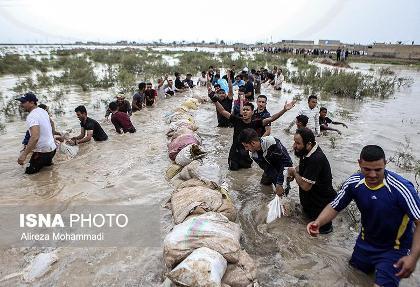 اعلام حالت آمادهباش در خرمشهر: سیلبندِ روستای مارد شکست