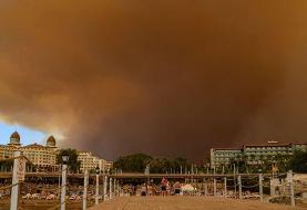 ادامه  آتش سوزی های گسترده جنگلی در ترکیه