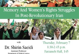 Dr. Shirin Saeidi: Reflecting on an Idealized Past, Memory and Women's Rights Struggles in Post-Revolutionary Iran