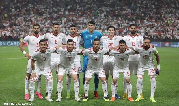صعود تیم ملی فوتبال ایران به جایگاه بیستم جهان