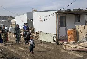 تصاویر اسکان موقت زلزلهزدگان شهرستان ثلاث باباجانی توسط بنیاد مسکن