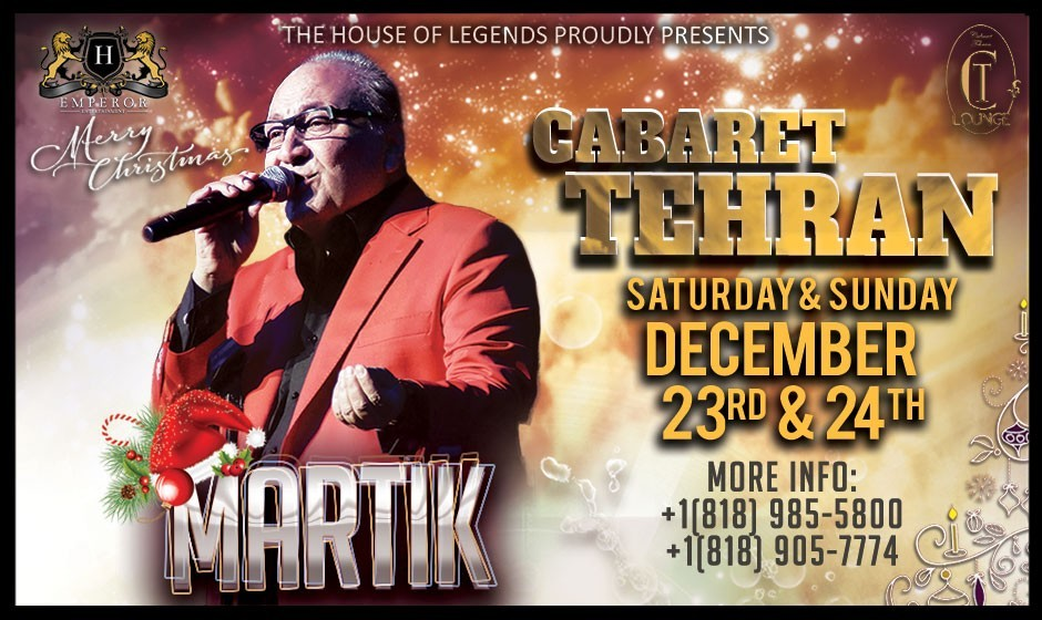 کنسرت مارتیک در کاباره تهران همراه با پذیرایی شام