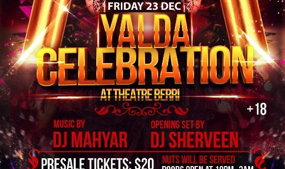 Best and Biggest Yalda Celebration Party, with DJ Mahyar