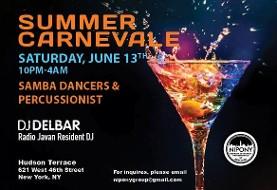 NIPONY Summer Carnevale w/DJ Delbar (Radio Javan,DC),Live Percussion,Samba Dancers