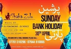 Persian Bank Holiday Party at Shaka Zulu