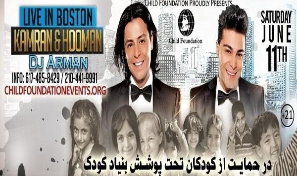 Kamran & Hooman Live in Boston & DJ Arman (Charity Concert / 21+ Event)