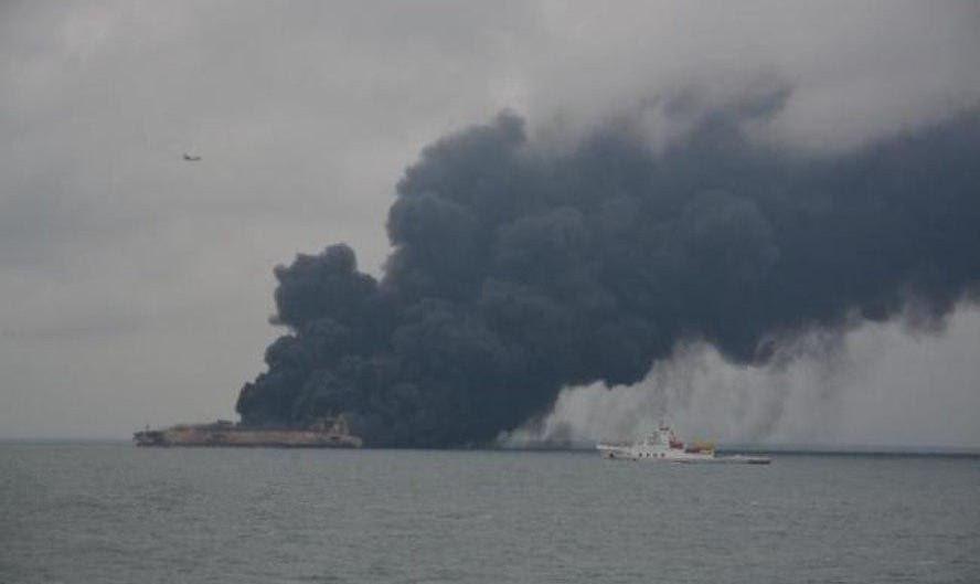 ورود نفتکش ایرانی با زبانههای آتش به آبهای ژاپن بر اثر وزش باد شدید