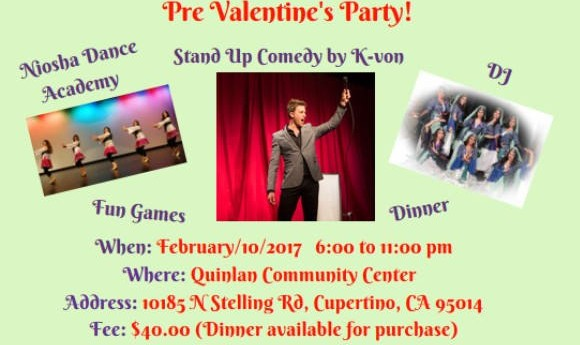 Pre-Valentine's Party: Comedy with K-von, Dance Performance, Music by DJ