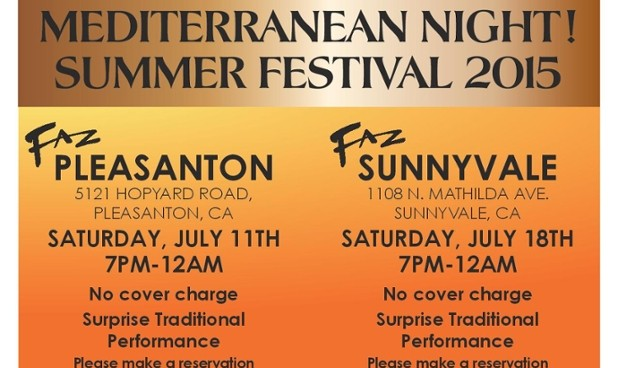 Join Us at Faz for Mediterranean Night in Sunnyvale