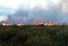 آتش زنجیره ای و مشکوک ۵۰ هکتار از جنگل «میانکاله» را سوزاند