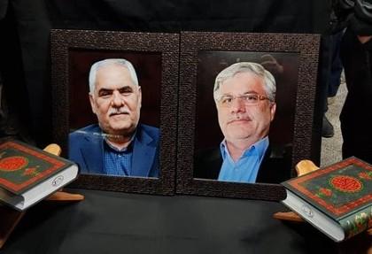 عکس مراسم تشییع پیکر دکتر نوربخش و تاجالدین: مقصران حادثه تصادف دیروز گرگان شناخته شدند