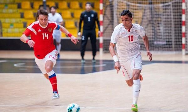 صعود فوتسال ایران به رده پنجم جهان با پیروزی مقابل روسیه