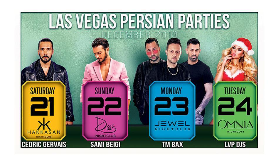 LAS VEGAS: Persian Christmas Parties with Sami Beigi, TM Bax and Others