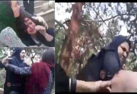 آتش به اختیار! ویدئوهای مردمی از کتک زدن وحشیانه دختر بد حجاب با ناراحتی قلبی توسط گشت ارشاد جنجال ساز شد