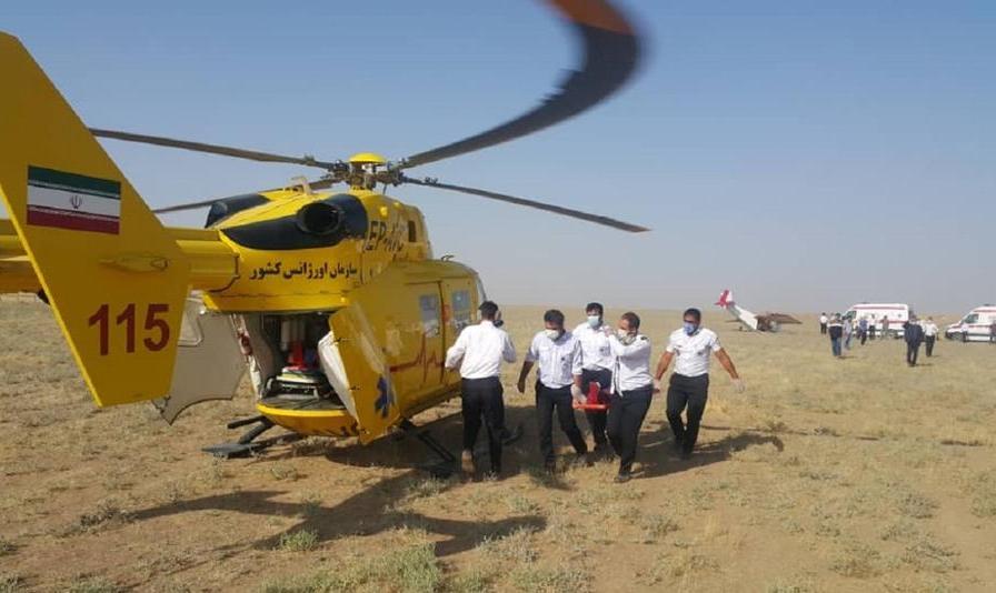 اولین ویدیو از سقوط هواپیمای تک موتوره در نظرآباد