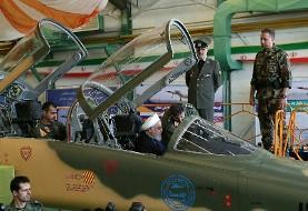 تصاویر و اخبار رونمایی از نخستین هواپیمای جنگی ساخت ایران