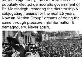 ظریف: «گروه اقدام آمریکا» آرزوی تکرار سناریو ۲۸ مرداد را در سر میپروراند؛ دوباره هرگز!