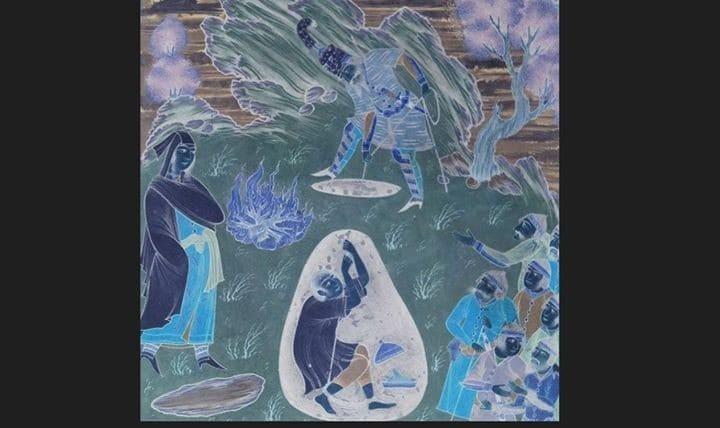 داستان سرایی نوروزی توسط بیژن و منیژه از شاهنامه