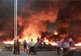 نفتکشی که موجب انفجار مهیب نزدیک ترمینال مسافربری در سنندج شد عراقی بود