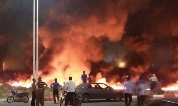 فیلم و تصاویر آتش سوزی و انفجار مهیب در ترمینال سنندج: ۳۶ کشته و مجروح و سه روز عزای عمومی در کردستان