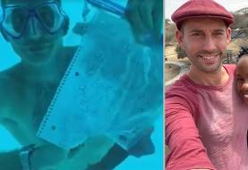 فیلم: مرگ داماد آمریکایی هنگام خواستگاری در زیر آب قبل از اینکه جواب دختر را بشنود!