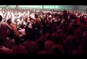 فرار ابی و منصور از صحنه بی نظم کنسرت اربیل (ویدئو)