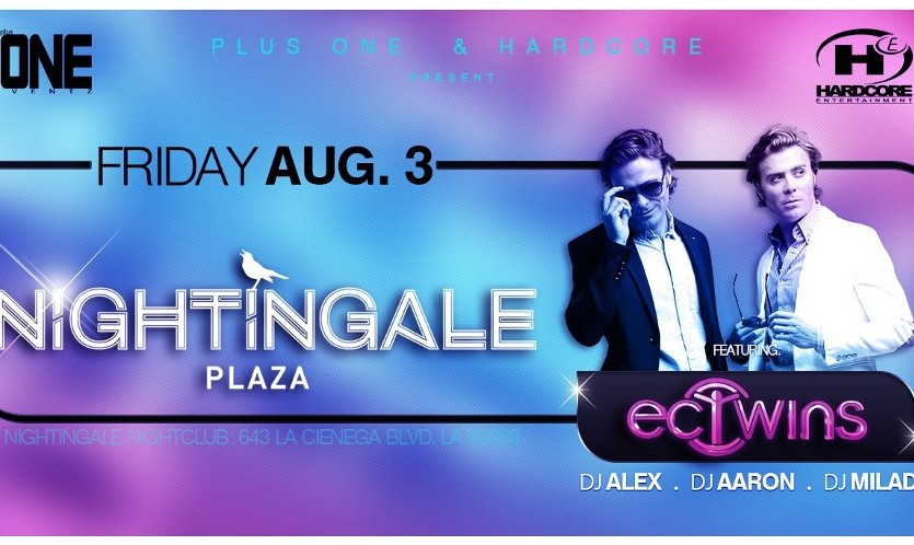 EC Twins Live at The Luxurious Nightingale Plaza with DJ Milad