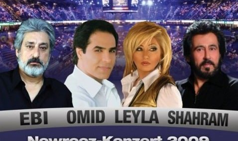 Ebi, Omid, Leila and Shahram in Nowrooz Concert
