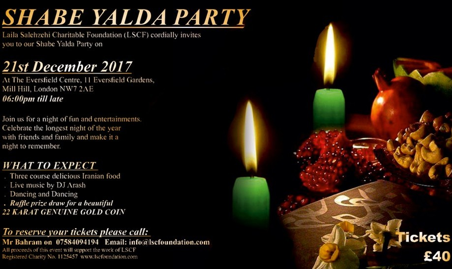 Yalda Night (Winter Solstice) Celebration with Full Iranian Dinner and Music