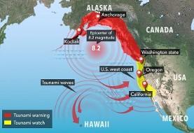 هشدار سونامی در پی زلزله آلاسکا: از کالیفرنیا تا ونکوور و آلاسکا