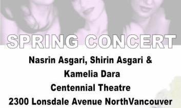 کنسرت سه سوپرانو خوان ایرانی در ونکوور