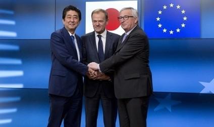 باز شدن جبهه جدید نبرد اقتصادی ضد ترامپ: توافق اتحادیه اروپا و ژاپن برای تجارت آزاد