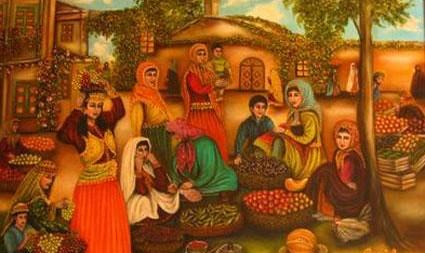 نمایشگاه آثار راضیه مهدیزاده زنان قاجار